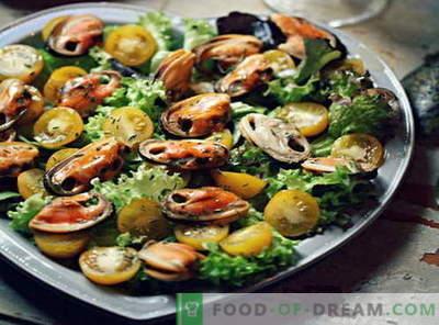 Insalata di cozze - le migliori ricette. Come cucinare correttamente e gustoso insalata di cozze.