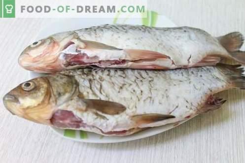 Due delle ricette più gustose e veloci per la cottura di pesci di fiume (carassi)