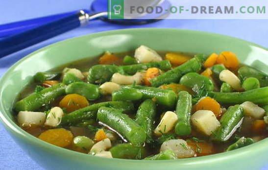 Žaliųjų pupelių sriuba - spalvų ir naudos riaušės kiekvienoje plokštelėje. Originalūs ir įrodyti pupelių sriubos receptai