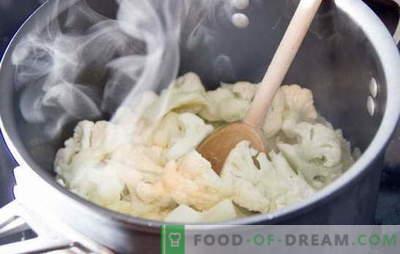 Ile gotować kalafior: świeży i mrożony. Różne metody i przepisy: jak gotować kalafior do różnych potraw