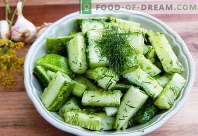 Insalata di cetrioli - le migliori ricette. Come cucinare correttamente e gustoso per insalate di cetriolo.
