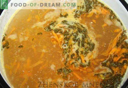 Zuppa con gnocchi - una ricetta con foto e descrizione passo-passo