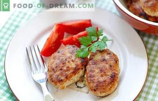 Le cotolette di maiale e pollo possono essere cotte sul fuoco e nella padella! Ricette per carne di maiale succosa e rubiconda e cotolette di pollo