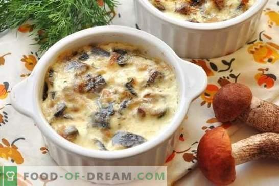 Pollo con champiñones en una olla en el horno: carne tierna con sabor a champiñones. Receta de pollo con champiñones en ollas para todos los gustos