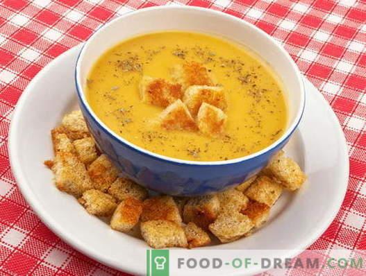 Zuppa con crostini - le migliori ricette. Come cucinare correttamente e gustoso zuppa con crostini di pane.