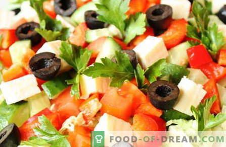 Le insalate senza maionese sono le migliori ricette. Come insalate correttamente e gustose da cucinare senza maionese.
