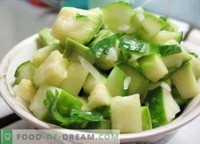 Insalata di zucchine - le migliori ricette. Come correttamente e gustoso per preparare un'insalata di zucchine.