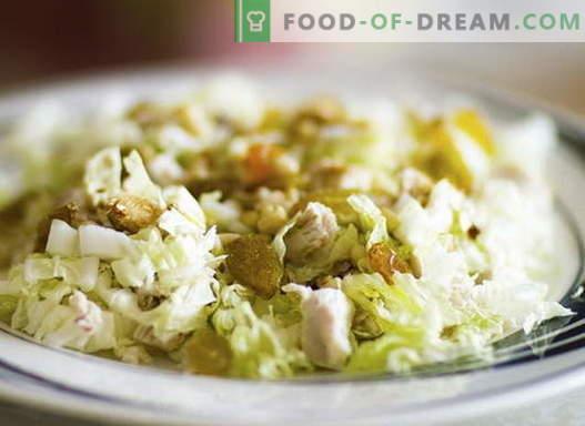 Insalata di pollo con cavolo - le migliori ricette. Cucinando correttamente l'insalata di pollo e cavolo.
