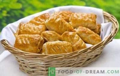 Sfoglia con formaggio - fragranti pasticcini per colazione o cena. Ricette per torta di pasta sfoglia con formaggio e funghi, ricotta, frutti di bosco