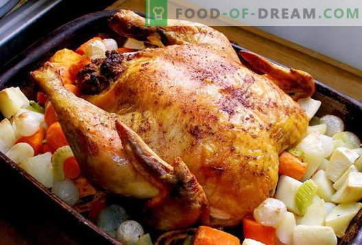 Пиле във фурната - най-добрите рецепти. Как да готвя пиле във фурната.