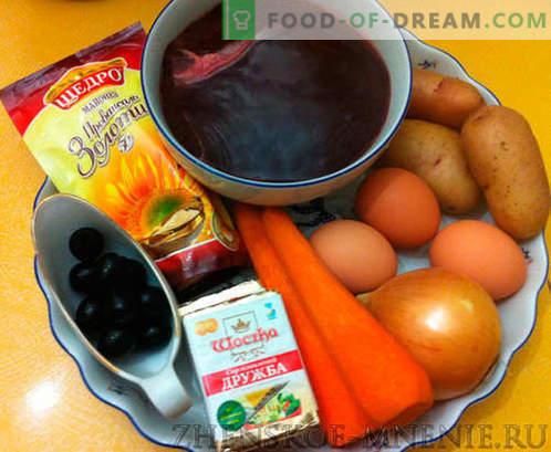 Ensalada con champiñones: una receta con fotos y una descripción paso a paso