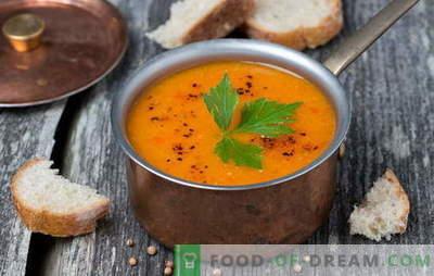 Semplici zuppe saporite di lenticchie rosse e verdi - tradizioni della cucina russa. Idee fresche per zuppe semplici di lenticchie diverse