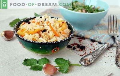 Pilaf al forno: le principali sfumature della cottura. Ricette di Pilaf al forno: carne, verdura, dolce