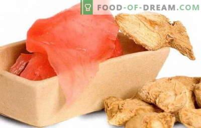 Zenzero sottaceto: lo facciamo a casa - condimento salato per i tuoi piatti preferiti. Come mettere lo zenzero a casa