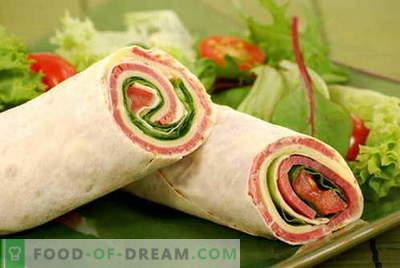 Lavash roll - le migliori ricette. Come cucinare correttamente e gustoso rotolo di pita.