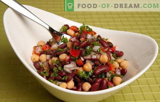 Ricette per insalate saporite e semplici con fagioli in scatola e altri prodotti. Cucinare velocemente: semplici insalate con fagioli