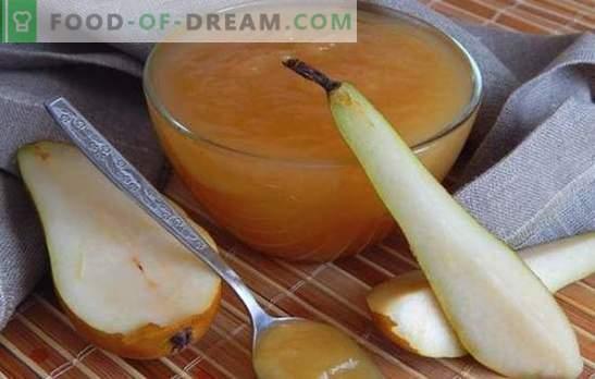 Inceppamento da una pera - non ottyanesh dalle orecchie! Ricette mista e semplice marmellata di pere per l'inverno in una pentola a cottura lenta e sul fuoco