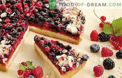 Panino con frutti di bosco - deliziose torte fatte in casa per tè o caffè. Una selezione delle migliori ricette per frollini con frutti di bosco