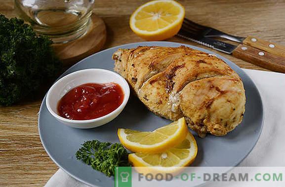 Filetto di pollo in un foglio in un fornello lento: piatto ad alto contenuto proteico e ipocalorico. Diversificare la dieta - cuocere il seno in carta stagnola in un fornello lento!