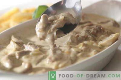 Carne in panna acida - le migliori ricette. Come cucinare correttamente e gustoso carne in panna acida.