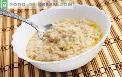 Come cucinare i fiocchi d'avena per renderlo saporito? Cuocere il porridge in acqua, con latte, uvetta, zucca, mele