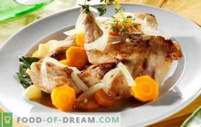 Kaninchenfrikassee - zartes Fleisch mit duftender Sauce. Die besten Rezepte Kaninchenfrikassee mit Sahne, Sauerrahm, Milch