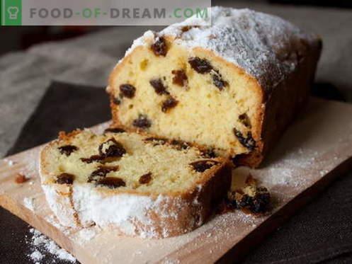 I muffin con l'uvetta sono le migliori ricette. Come cucinare in modo rapido e gustoso i muffin con l'uvetta.