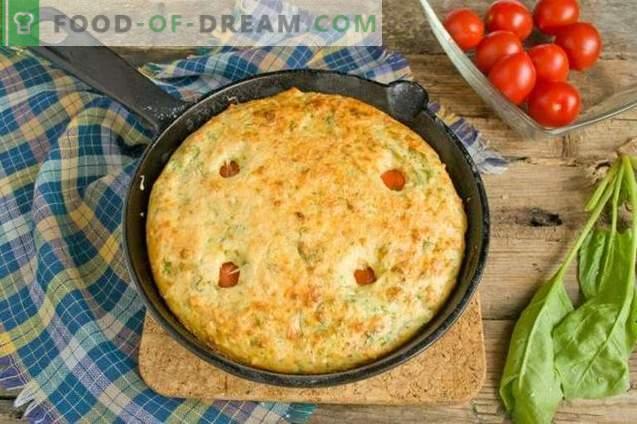Omelette con cagliata e spinaci