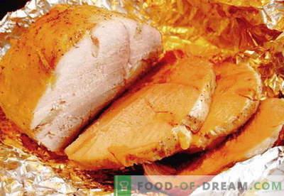 Prosciutto cotto al cartoccio - le migliori ricette. Come cucinare correttamente e gustoso prosciutto in carta stagnola a casa.