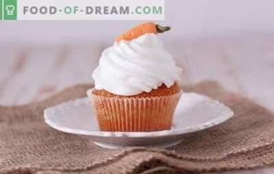 Muffin di carote - pasticcini gustosi e sani. Una selezione delle migliori ricette per i muffin alle carote, dolci e salati