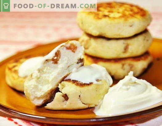 Le cheesecake con l'uvetta sono le migliori ricette. Come cucinare velocemente e gustose torte di formaggio con l'uvetta.