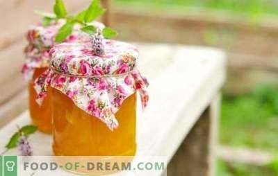 Ricette rapidamente la marmellata di zucca - il gusto dell'autunno. La confettura di zucca è veloce e gustosa: con arancia, limone, albicocche secche, mele, ecc.