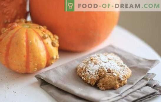 I biscotti alla zucca sono i miei preferiti! Ricette biscotti di zucca soleggiati con uvetta, fiocchi, noci, ricotta