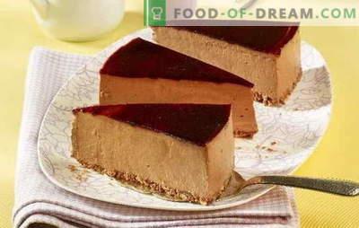 Cheesecake senza cottura è un'allettante prelibatezza. Le migliori ricette per cheesecake senza cottura con mascarpone, ricotta, cioccolato, Nutella