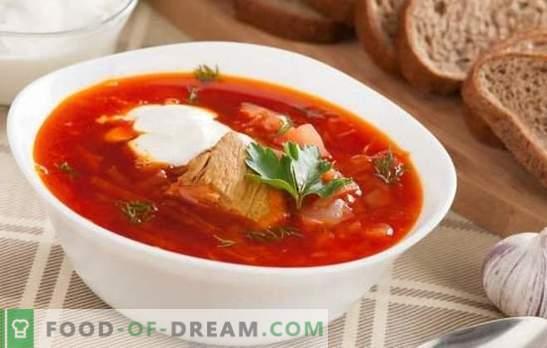 Борша со свинско месо - тоа е посебно за секоја водителка! Рецепти богата, дебела и негување супа со свинско месо