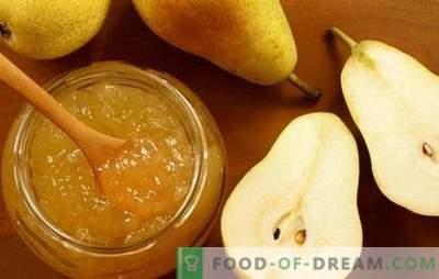 Nuove e tradizionali ricette per gelatina di pera. Deliziosa gelatina di pere con gelatina per l'inverno, senza zucchero, dessert originali con un gusto insolito