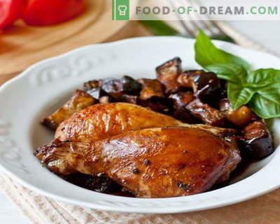 Pollo di melanzane - le migliori ricette. Come cucinare correttamente e deliziosamente pollo alle melanzane.