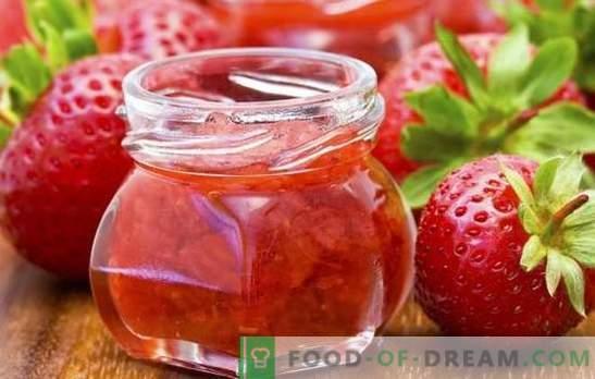 Preparati per l'inverno delle fragole - dalla marmellata alle composte. Le migliori e più vivide ricette vuote per l'inverno delle fragole