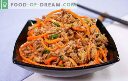 Xe dalle carote - fuoco antipasto! Ricette profumate heh carote con carne, pesce, funghi, melanzane, pollo