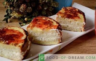 Crostini con ricotta - un approccio creativo alla colazione! Una versione veloce di una ciambella di ricotta o cheesecake: crostini fritti con ricotta