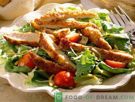 Salade masculine - les meilleures recettes. Comment bien et savoureux salade pour hommes cuite.