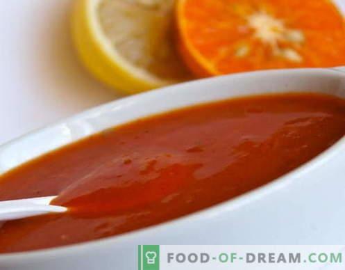 Salsa agrodolce - le migliori ricette. Come cucinare correttamente e gustoso salsa agrodolce.