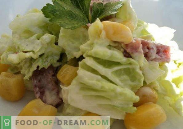 20 migliori ricette di insalata di cavolo di Pechino, regole di cottura