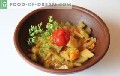 Patate con zucchine in una pentola a cottura lenta - veloce e gustosa. Ricette per cucinare le patate con le zucchine in un fornello lento: vegetariano e carne