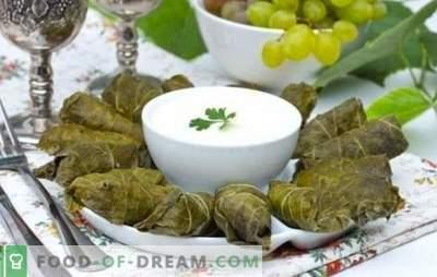 Dolma in foglie di vite è la corona dell'arte culinaria caucasica. Ricette classiche e originali dolma in foglie d'uva