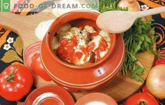 Verdure in una teglia: cavoli, patate, maiale e un po 'di più. Una selezione delle migliori ricette per verdure in una pentola del forno