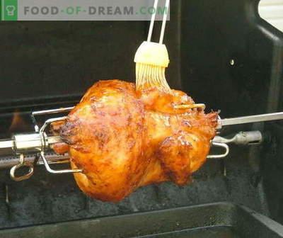 Pollo allo spiedo: le migliori ricette. Come cucinare correttamente e gustoso pollo allo spiedo.