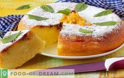 Torta con fiocchi di latte in una pentola a cottura lenta - cottura di una casseruola miracolosa. Ricette di torte di ricotta in un multicooker di pasta diversa