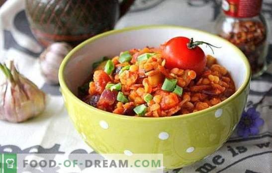Lenticchie con verdure - non l'hai ancora provato! Ricette d'autore di lenticchie con verdure di diversi livelli di complessità