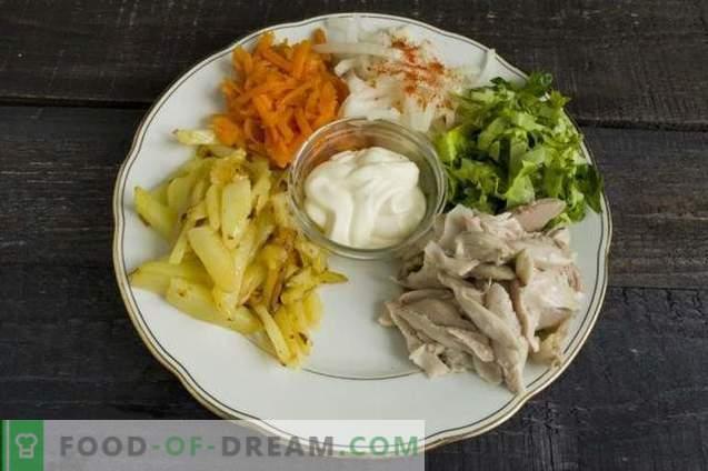 Insalata di verdure con carne arcobaleno